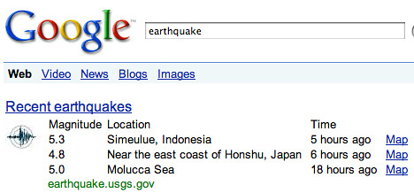 Google Earthquake Box