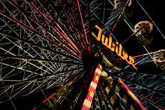 Jubilee (Nicola T) Tags: ireland dublin wheel lights nikon neon jubilee highcontrast ferris nighttime manmade ferriswheel bigwheel funfair vignette 2009 stpatricksday lightroom merrionsquare d90 nikond90