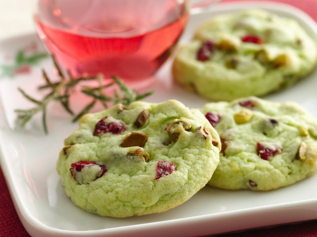 Cran-Pistachio Cookies Recipe