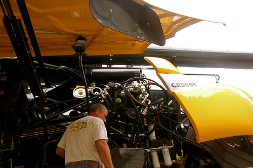 Jim Zeorian takes a look at his new combine.