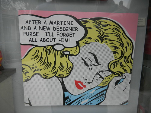 After a martini and a new designer purse ...