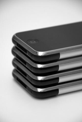 Stack of iPhone's by Jaap Oostinjen