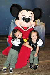 The girls didn't want to let go of Mickey