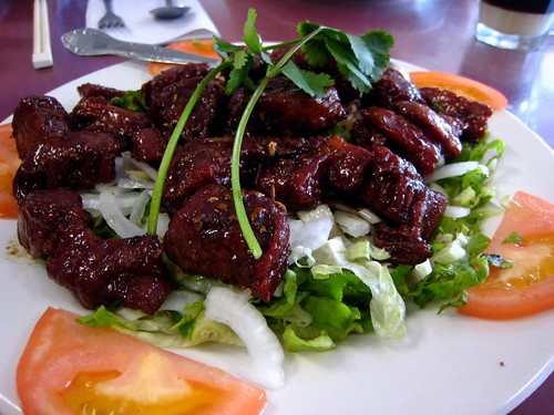 Bo luc lac (Shaking Beef) from Le Soleil
