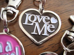 Lola & Foxy Pet Tags: Love Me (Brown)