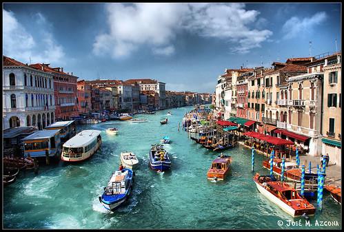 Venecia (Italia). Gran Canal desde el Puente de Rialto. por josemazcona.