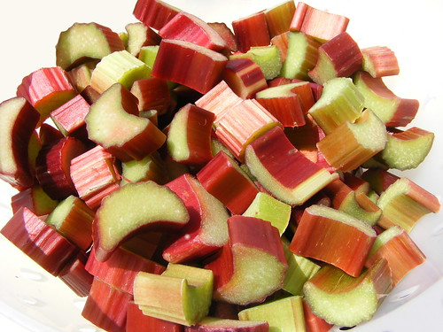 Chopped Rhubarb by FotoosVanRobin on Flckr