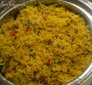 Vegetable Biryani Spicy Tasty