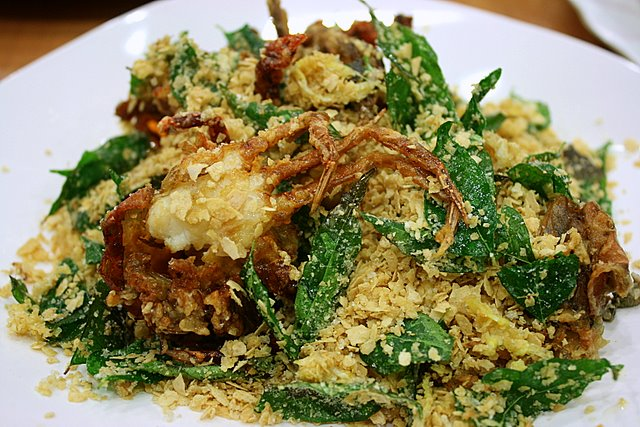 Cereal soft shell crabs