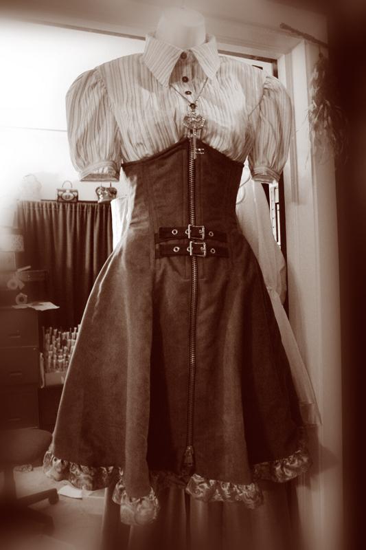 Стимпанк одежда женская сделать легкий вариант