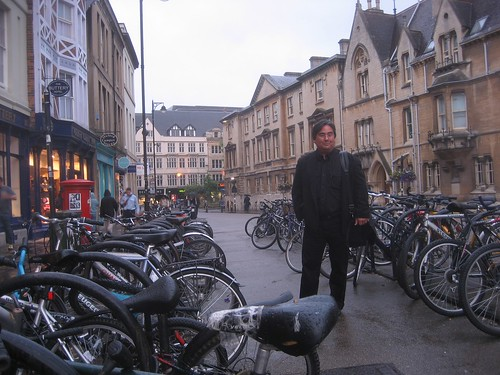 Surrounded by bikes