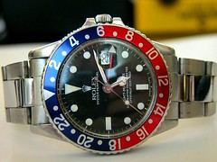 1960s Rolex GMT Master 1675 (char1iej) Tags: watches watch ss master crown 1960s wristwatch oyster rolex gmt oysterband privatecollection 1675 oysterperpetual twinlock 16750 rolexwatch charliej crownguards pepsidial fliplock customizedband