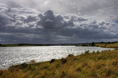 Lakeside - Overcast (Tim Blessed) Tags: uk sky lake nature water clouds landscape countryside wind reservoir singlerawtonemapped