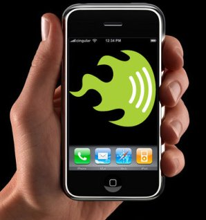 iPhone Wi-Fi detector.