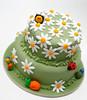 Meadowland Cake (fondant cake) (Paige Fong) Tags: birthday cakes cake bug dessert snail bee daisy icing fondant sugarpaste