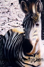 The Vivacity of the Zebra (Charles George Art) Tags: wildlife zebra natureart wildlifeart zebraart zebrapainting charlesgeorge charlesgeorgeart