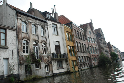 Houses along the canal in Ghent by you.