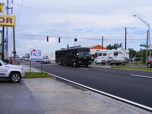 Obama's Bus Arrives