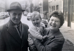 Stephen B Whatley -1966 (Stephen B Whatley) Tags: family woman baby man london love 60s artist grandmother joy grandfather smiles happiness humour 1966 grandparents laughter 1960s dulwich youmademyday stephenbwhatley