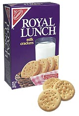 Royal Lunch Milk Crackers - Discontinued by Nabisco