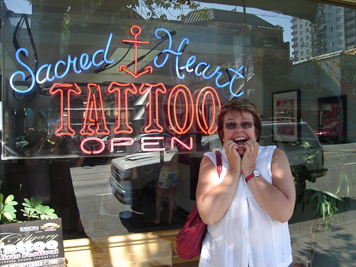 Mom @ Sacred Heart Tattoo on Davie (Van BC)