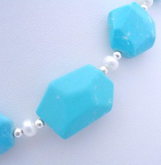 chalk turquoise treated to the desired sky blue