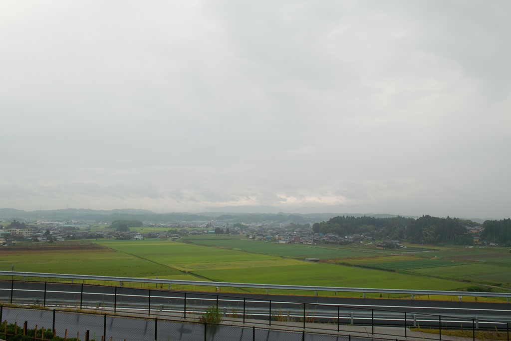 A distant view of Konan town.