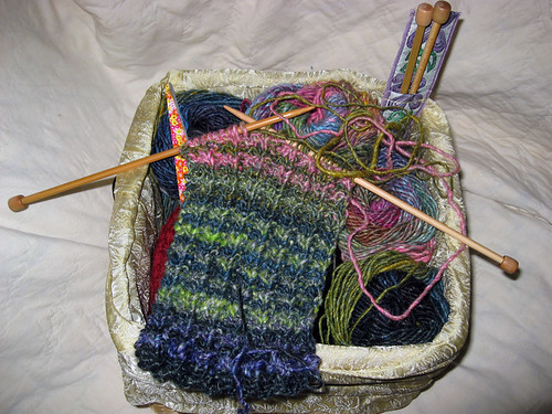 two row noro scarf wip