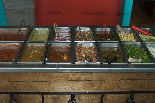 The salsa bar