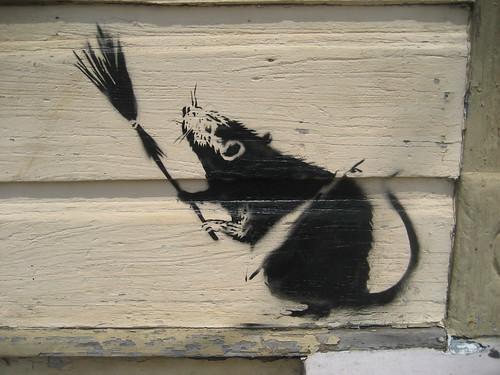 BanksyBroomRatA