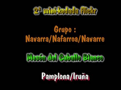 Video mini-kedada flickeros de Pamplona