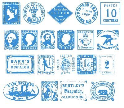 postage stamp font