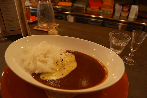 Le curry de petit Monsieur + fromage fondue