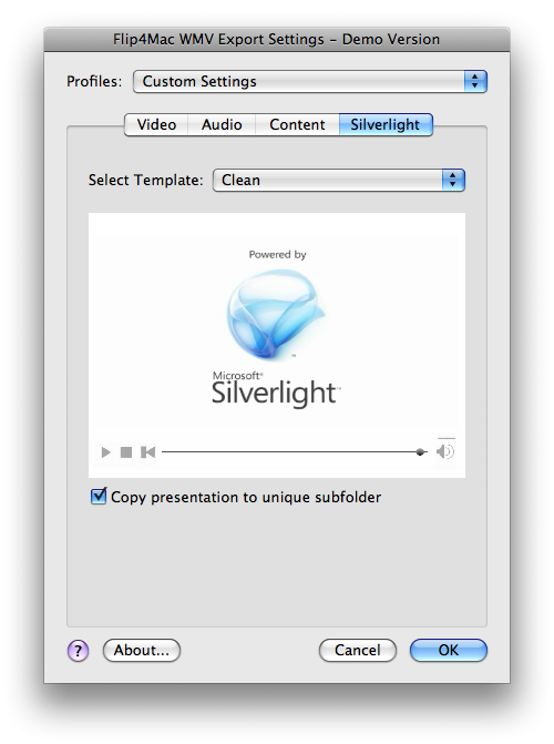 flip4-mac-silverlight-player-templates