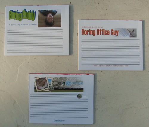Homemade notepads