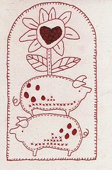 Cotton Country Quilt- pigs