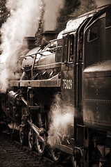 Express (moggsterb) Tags: sepia train canon track wheels engine railway loco steam rails express puffer northyorkshire steamtrain pickering yorkshiremoors goathland steamlocomotive grosmont worx shunt msh0109 blackwhitephotos t189 400d locomotice superaplus msh010919