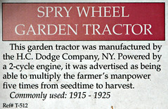 1915-1925 Spry Wheel Garden Tractor Info (Jack Snell - USA) Tags: ca old wallpaper tractor classic wall truck vintage woodland paper antique historic equipment vehicle oldtimer trucks agriculture veteran agricultural heidrickaghistorycenter haysantiquetruckmuseum quipmentfarm machinerytractortruckvintagewagon heidrickantiqueagcollectiontractors jacksnell707 jacksnell heidrickantiqueagcollection