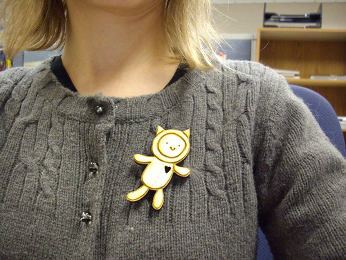 Little Catsuit Pin that I made