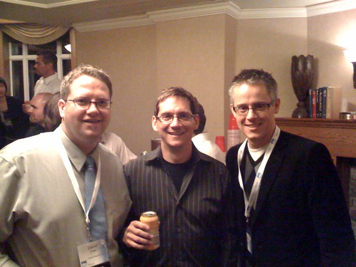David Cree, Stephen King, Rob Lewis at Banff Venture Forum 2008 CTI Afterparty