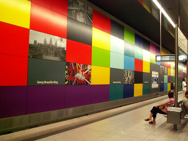 "München (Munich), Germany - Metro station ""Georg-Brauchle Ring"""