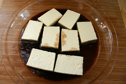 Marinate the tofu