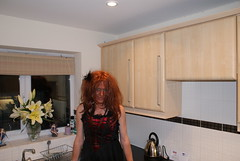 Red Black Dress (Talia Monique) Tags: cross gothic goth culture dressing tranny heels gothicculture