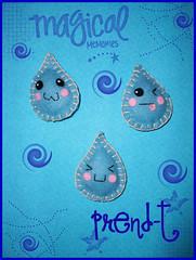 Gotitas Kawaii - Imancitos  (PrenD-T) Tags: cute lluvia agua sweet handmade felt kawaii feltro imanes hechoamano fieltro prendt