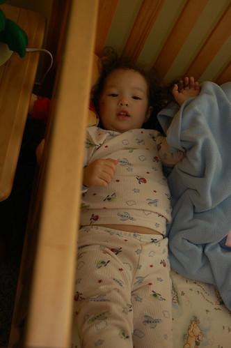In her crib