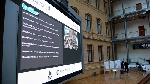 Barcamp Berlin 2008 - Riesen TV der Telekom