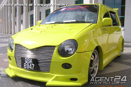 kancil custom modified. Unique custom body kit with wider side all in yellow