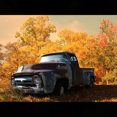 ABANDONED (_AcL_) Tags: autumn abandoned rust morphed oldpickuptruck photographicdesign explore325