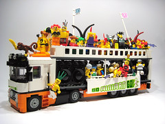 Go Miniman Go And Say YEAH! (nolnet) Tags: party truck fun monkey lego frog techno rave minifig loveparade 1990s gominimango teikjoonisblind contestrulesarenotnegotiable