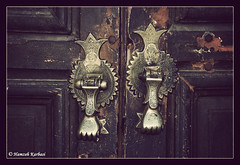 Iranian Door (Hamzeh Karbasi) Tags: door old architecture persian iran entrance persia mosque historic iranian  esfahan oldcity  isfahan shah imam       hamzeh karbasi hamzehkarbasi  jameabbasimosque